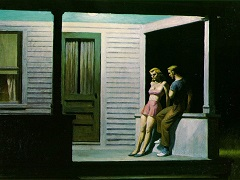 Hopper summer-evening