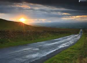 strada tramonto