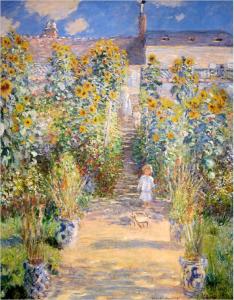 Claude Monet Il giardino dell'artista a Vétheuil