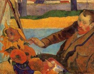 Paul Gauguin Vincent Van Gogh dipinge i Girasoli