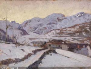 Cesare Maggi Primo mattino in montagna
