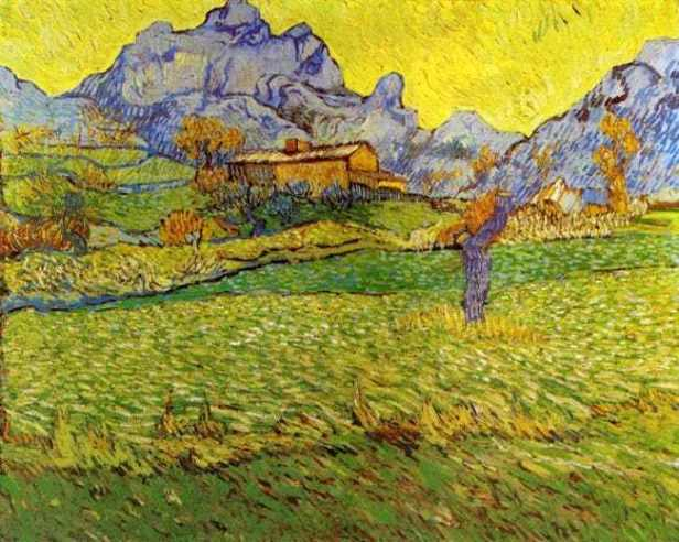 Van Gogh a-meadow-in-the-mountains-le-mas-de-saint-paul-