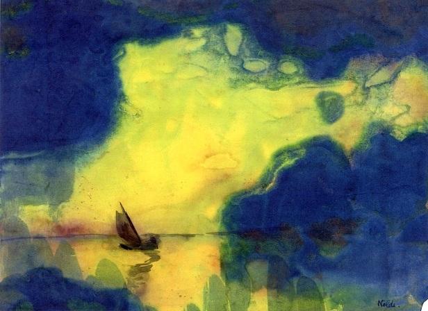 emil nolde vela cielo giallo