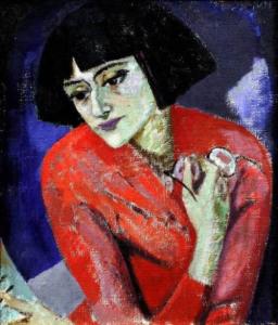 Achmatova by Kuzma Petrov Vodkin
