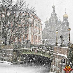 San Pietroburgo con la neve