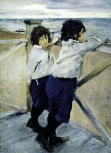 Serov i suoi figli Sasha e Yura