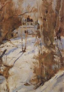 Serov winter-in-abramtsevo-1886