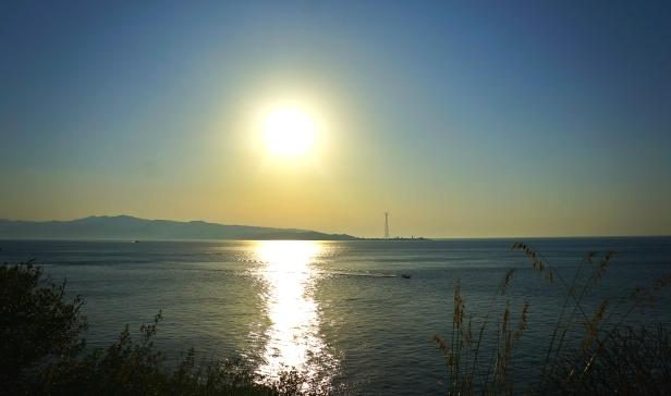 Barile tramonto sullo Stretto