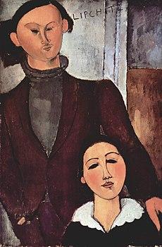 Modigliani ritratto Lipchitz e Bertha