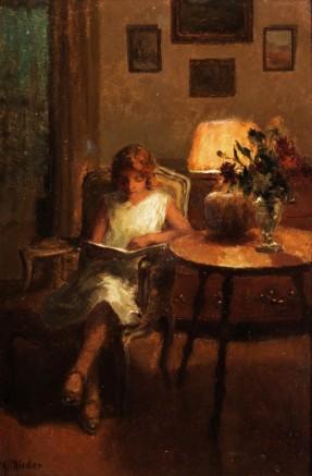 Rieder ragazza che legge