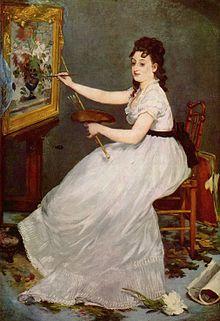 Eva gonzales ritratta da Manet