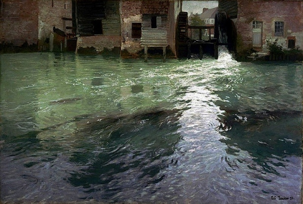 Thaulow-1847-1906-Water-Mill-1892