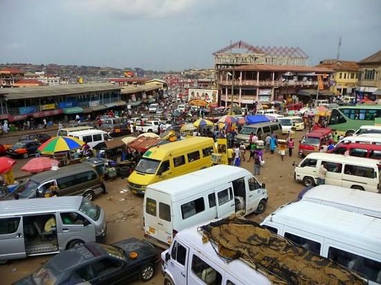 Ghana Tro-Tro-Station-in-Kumasi