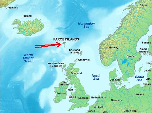 Faroe mappa