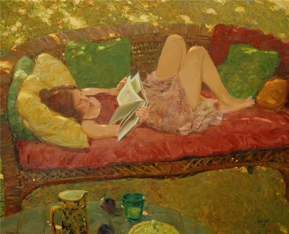 david-hettinger-lettura sul divano