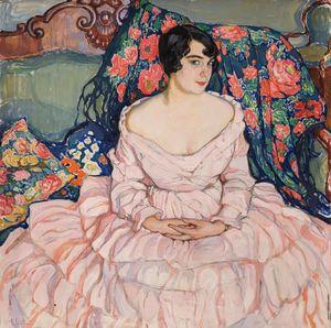 Kiseleva_-_Portrait_of_Lyubov_Brodskaya__1916