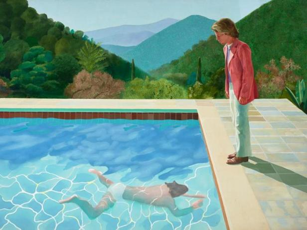 David Hockney Portrait of an artist (Pool with two figures) 1972
