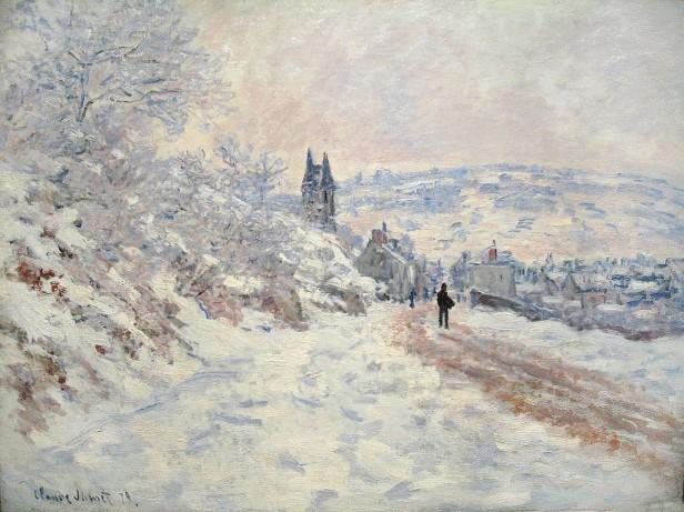 Monet Claude La_route_de_Vétheuil,_effet_de_neige
