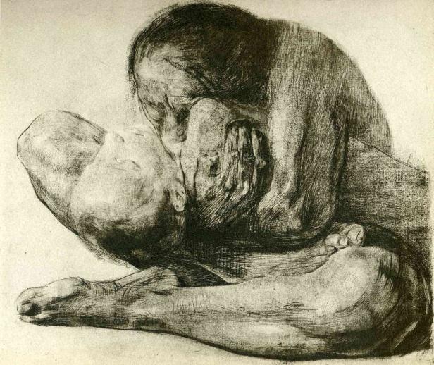 kollwitz donna con bambino morto