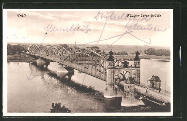 tilsit vecchia cartolina del ponte