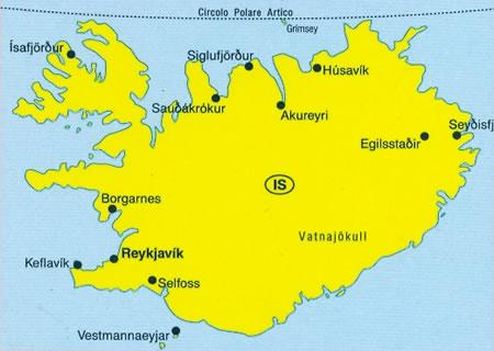 Islanda mappa