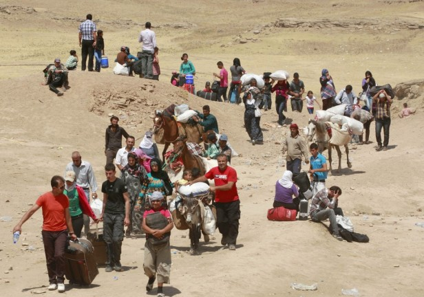 rifugiati siriani verso l'iraq