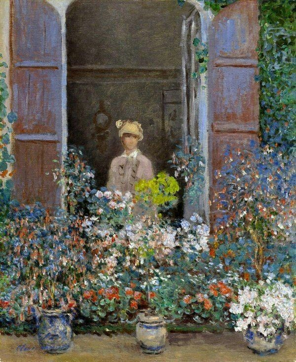 Monet Camille alla finestra