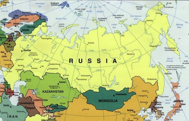 russia cartina generale