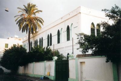 Scuola Tripoli il cancello del cortile b