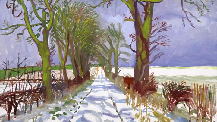 Winter by Hockney