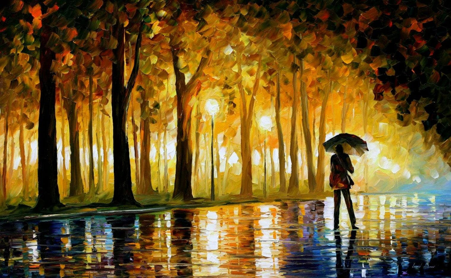afremov painting-in-the-park