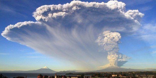 Santiago del Cile vulcano nube