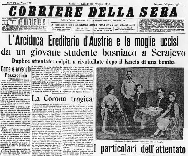 Sarajevo attentato Corriere